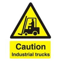 Warning Sign Industrial Trucks PVC 15 x 20 cm