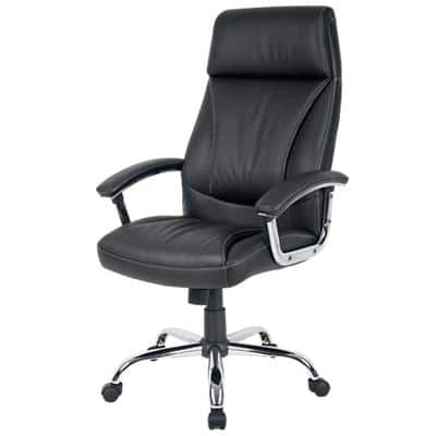Realspace Executive Chair Prague Bonded leather Black