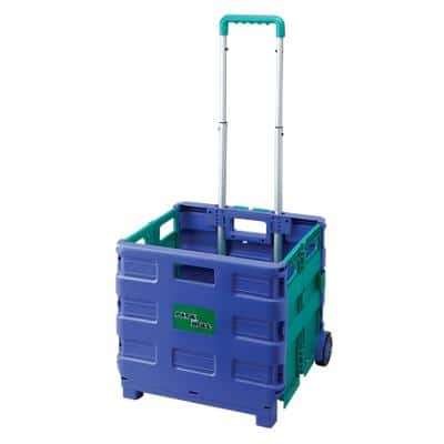 Trolley Green, Blue 36 x 38.5 x 33 cm