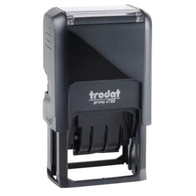 Trodat Printy 4750 Self Inking Date Stamp  Black