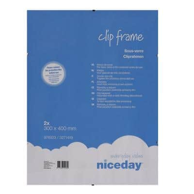 Niceday Wall Mountable Clip Frame 978923 A3 300 x 400 mm Transparent 2 Pieces