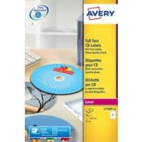 Avery Full Face CD Labels L7760-25 White 50 labels per pack