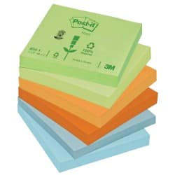 Post-it Sticky Notes 654-1RP Assorted Plain 76 x 76 mm 70gsm 12 pieces of 100 sheets