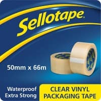 Sellotape 1445488 Packaging Tape 50mm x 66m Transparent