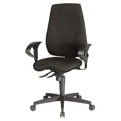 WorkPro Synchro Tilt Ergonomic Office Chair with 2D Armrest and Adjustable Seat Eiger Black