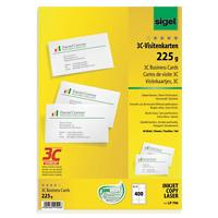 Sigel Business Cards 225gsm White 40 Sheets of 10 Pieces