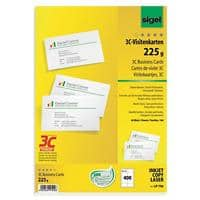 Sigel LP796 Business Cards 85 x 55 mm 225gsm White Pack of 400