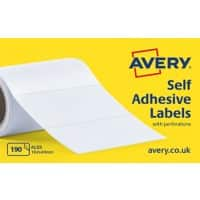 AVERY Typewriter Address Label Rolls AL03 White Self Adhesive 102 x 49 mm 1 Roll of 190 Labels