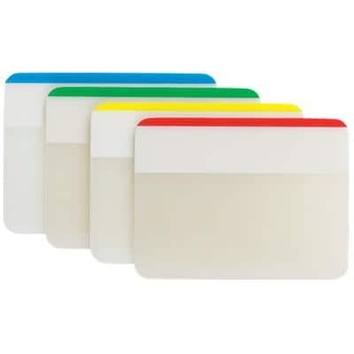 Post-it Index Flags 686 Assorted Plain 51 x 38 mm 4 Pieces of 6 Strips