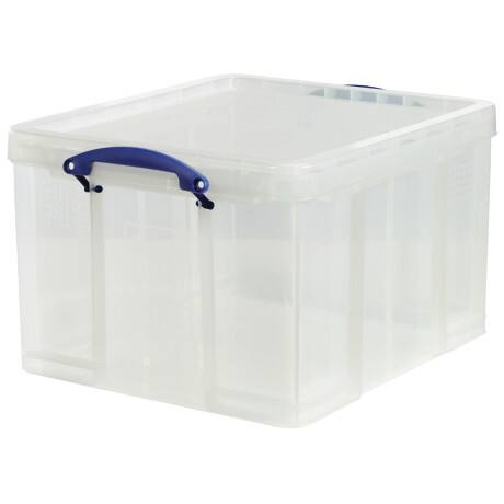 Really Useful Box polypropylene plastic storage box 42 L (310 x 440 x 520 mm H x W x D) in Clear