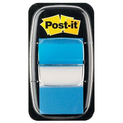 Post-it Index Flags Blue Plain Not perforated 25,4 x 43,2 mm 50 Strips
