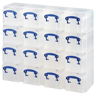 Really Useful Boxes Storage Box UB03KUB 16 x 0.3 L Transparent Plastic 31 x 37.5 x 12.5 cm
