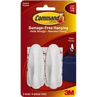 Command Hook Strip up to 1 kg Holding Capacity White Pack of 2