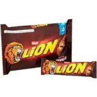 Nestlé Lion Milk Chocolate Bar No Artificial Colours, Flavours or Preservatives 42g Pack of 4