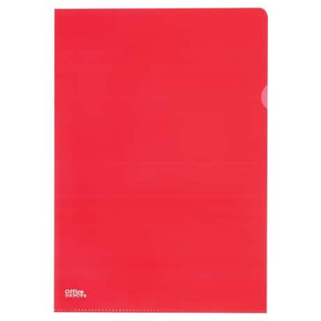 Office Depot L-Shape Folder A4 Red polypropylene 145 micron 25 pieces