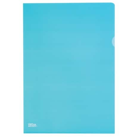 Office Depot L-Shaped Folders Deluxe A4 Blue polypropylene 145 micron 25 pieces