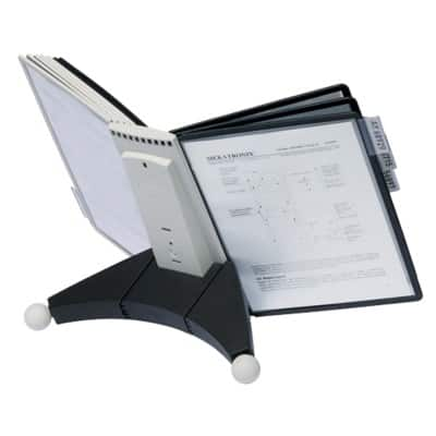 DURABLE Display Stand Sherpa 5632 Black A4 20 Sheets Plastic 29 x 49 x 33 cm