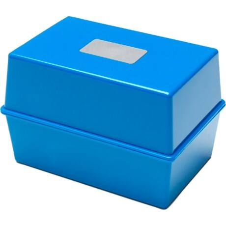 Card Index Box CP011VKBLU 250 Cards Blue 11.2 x 15.2 x 11.4 cm