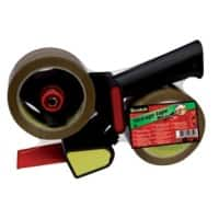 Scotch H180 Tape Dispenser Gun 50mm x 66m Black incl. 2 Rolls of adhesive tape
