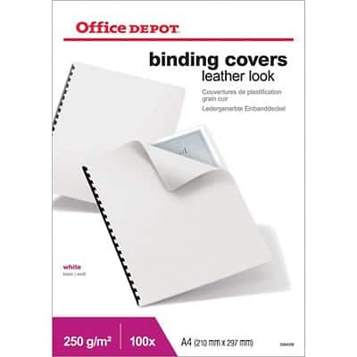 Office Depot Binding Covers Covers with leather effect A4 100 Pieces