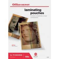 Office Depot Laminating Pouches glossy 150 microns A4 100 pieces
