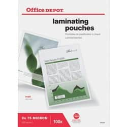 Office Depot Laminating Pouches matt 150 micron A4 100 pieces