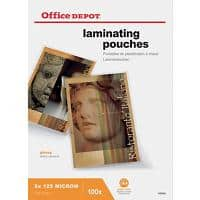 Office Depot Laminating Pouches Glossy 2 x 125 (250 Micron) A4 Pack of 100