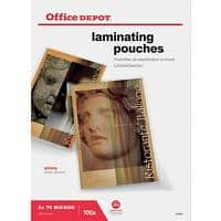 Office Depot Laminating Pouches Glossy 2 x 75 (150 Micron) A3 100 Pieces