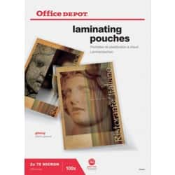 Office Depot Laminating Pouches Glossy 150 micron A3 100 Pieces