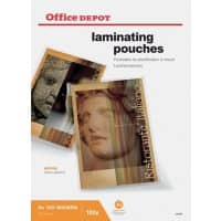 Office Depot Laminating Pouches Glossy 2 x 125 (250 Micron) A3 Pack of 100