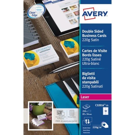 Avery® Satin Colour Laser Business Cards