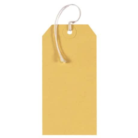 Coloured String Tags - Yellow