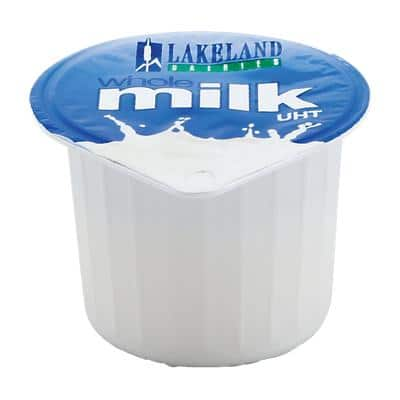 Lakeland DAIRIES Whole Milk Milk Pots No Refrigeration Required 12ml Pack of 120
