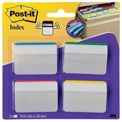 Post-it Index Flags 686A-1 Assorted Plain 51 x 38 mm 6 Strips Pack of 4