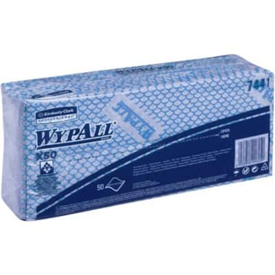 WYPALL Cleaning Cloths 7441 Blue 50 Pieces