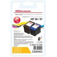 Office Depot Compatible HP 56, 57 Ink Cartridge SA342AE Black & 3 Colours Pack of 2