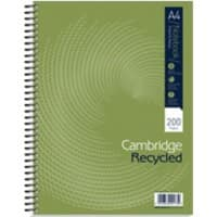 OXFORD Notebook Black A4 Ruled Perforated 4 Holes 100 Sheets