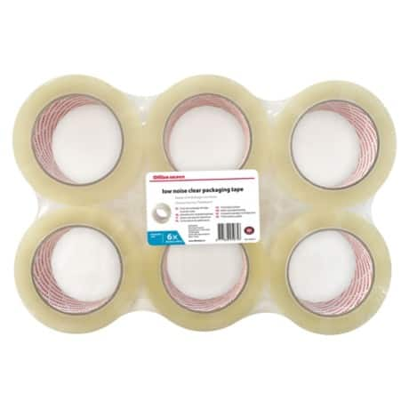 Office Depot Tape Industrial 50 mm x 100 m Transparent 6 Rolls
