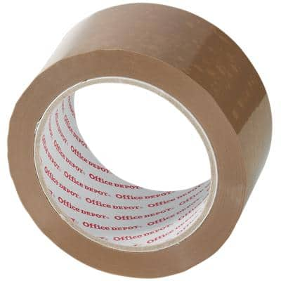 Office Depot Packaging Tape Low Noise 50 mm x 66 m Brown 6 Rolls
