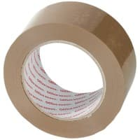 Office Depot Heavy Duty Low Noise Tape Brown 50 mm x 100 m 6 Rolls Per Pack