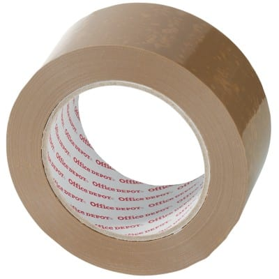 Office Depot Packaging Tape Heavy Duty 50 mm x 100 m Brown 6 Rolls