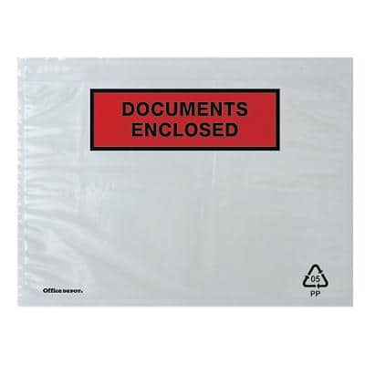 Office Depot Document Enclosed Envelopes C5 229 (W) x 162 (H) mm Self-Adhesive Printed Pack of 1000