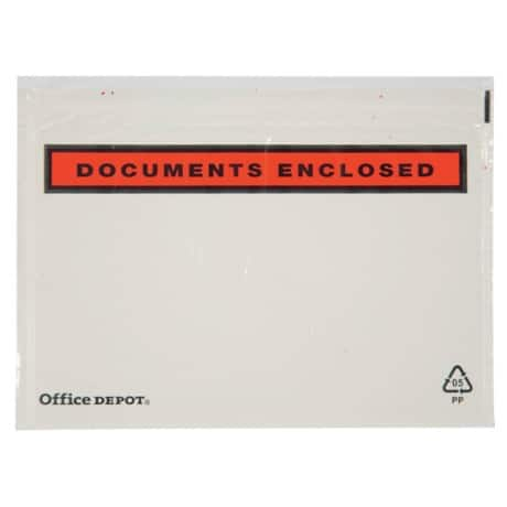 Office Depot Document Enclosed Envelopes C6 162 x 115 mm Printed 1000 Per Box
