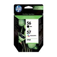 HP 56/57 Original Ink Cartridge SA342AE Black & 3 Colours 2 Pieces