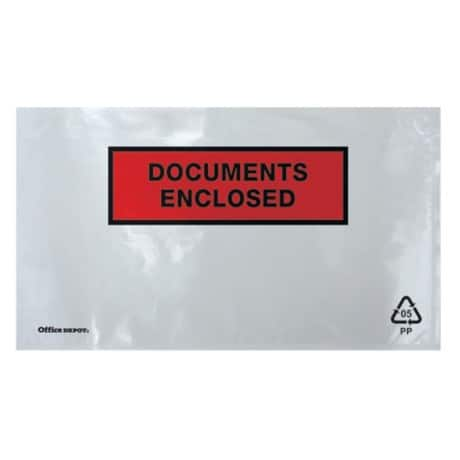 Office Depot Document Enclosed Envelopes DL 220 x 110 mm Printed 1000 Per Box