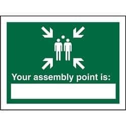 Safety Procedure Sign Your Fire Assembly Point Is PVC 200 x 150 mm