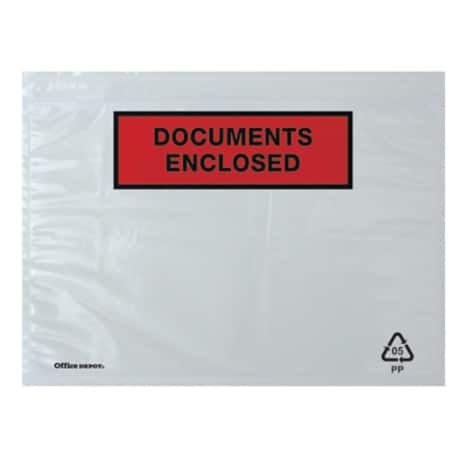 Office Depot Document Enclosed Envelopes C5 229 x 162 mm Printed 250 Per Box