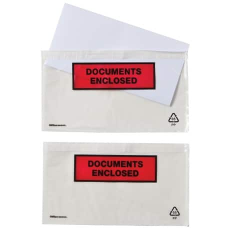 Office Depot Document Enclosed Envelopes DL 220 x 110 mm Printed 250 Per Box