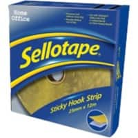 Sellotape Sticky Hook Strip Permanent Yellow 12m