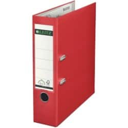Leitz 180° Lever Arch File A4 2 ring 80 mm Red